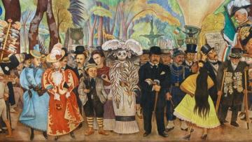 Sueño de una tarde dominical en la alameda central (mural) – Diego Rivera